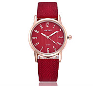 cheap -Women's Quartz Fashion Watch Chinese Casual Watch PU Band Minimalist Black White Blue Red Brown Grey Pink