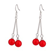 cheap -Women's Cute Oversized Pearl Pearl / S925 Sterling Silver Drop Earrings - Oversized / Fashion Red Circle / Line Earrings For Street / Date