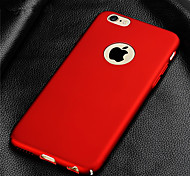 abordables -Funda Para Apple iPhone 8 iPhone 8 Plus Funda iPhone 5 iPhone 6 iPhone 7 Cromado Funda Trasera Color sólido Dura ordenador personal para