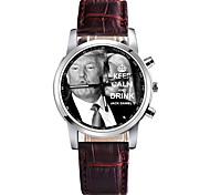 Недорогие -Муж. Нарядные часы Китайский Секундомер PU Группа На каждый день Черный / Белый / Красный
