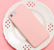cheap -Case For Apple iPhone 5 Case iPhone 6 iPhone 7 Shockproof Back Cover Solid Color Soft TPU for iPhone 7 Plus iPhone 7 iPhone 6s Plus
