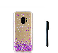 cheap -Case For Samsung Galaxy S9 S9 Plus Translucent Back Cover Heart Soft TPU for S9 Plus S9 S8 Plus S8 S7 edge S7