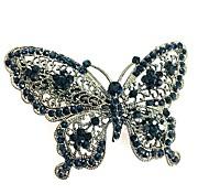 Недорогие -Жен. Простой Elegant Заколка - С бабочками Однотонный