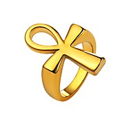 cheap -Men's Stainless Steel Cross Knuckle Ring - Fashion Gold / Black / Silver Ring For Daily