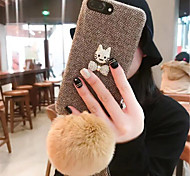 cheap -Case For Apple iPhone X iPhone 7 Plus Pattern Back Cover Solid Color Soft TPU for iPhone X iPhone 8 Plus iPhone 8 iPhone 7 Plus iPhone 7
