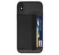 abordables -Funda Para Apple iPhone X iPhone 8 Plus Soporte de Coche Magnética Origami Armadura Funda Trasera Armadura Dura ordenador personal para