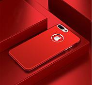 Недорогие -Кейс для Назначение Apple iPhone X Защита от удара Кейс на заднюю панель Однотонный Мягкий ТПУ для iPhone X iPhone 8 Pluss iPhone 8