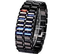 preiswerte -Herrn Damen digital Digitaluhr Armbanduhr Chinesisch Kalender Chronograph Armbanduhren für den Alltag Nachts leuchtend leuchtend Legierung