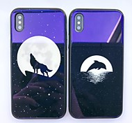 cheap -Case For Apple iPhone X iPhone 8 Shockproof Pattern Back Cover Animal Hard Tempered Glass for iPhone X iPhone 8 Plus iPhone 8 iPhone 7