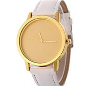 preiswerte -Damen Quartz Modeuhr Chinesisch Armbanduhren für den Alltag PU Band Minimalistisch Modisch Schwarz Weiß Blau Orange Braun
