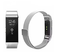 cheap -Watch Band for Fitbit Charge 2 Fitbit Sport Band Milanese Loop Stainless Steel Wrist Strap