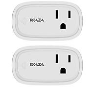 Недорогие -waza smart plug (us) мини-выход, совместимый с amazon alexa и помощником Google, wifi с дистанционным управлением интеллектуальное гнездо с функцией таймера, без концентратора (2-Pack)