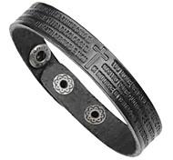 cheap -Men's Bangles / Leather Bracelet / Bracelet - Leather Cross Classic, Vintage, Fashion Bracelet Black / Coffee / Brown For Formal / Work