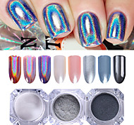 abordables -3 pcs Poudre de paillettes Effet miroir / Nail Glitter Nail Art Design Brillant Mariage / Soirée / Fête