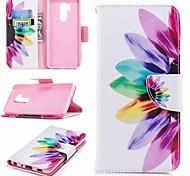 cheap -Case For LG K10 2018 / G7 Card Holder / Wallet / with Stand Full Body Cases Flower Hard PU Leather for LG V30 / LG V20 / LG Q6