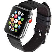 baratos -Pulseiras de Relógio para Apple Watch Series 3 / 2 / 1 Apple Fecho Clássico Couro Legitimo Tira de Pulso
