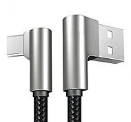 Недорогие -Type-C Адаптер USB-кабеля Плетение / Быстрая зарядка Кабель Назначение Samsung / Huawei / Nokia 120cm текстильный