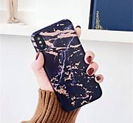 Недорогие -Кейс для Назначение Apple iPhone X / iPhone 6 Новый дизайн / Матовое / Cool Кейс на заднюю панель Мрамор Мягкий ТПУ для iPhone X / iPhone