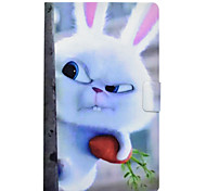 Недорогие -Кейс для Назначение SSamsung Galaxy Tab 3 Lite Бумажник для карт Защита от удара со стендом Флип Кейс на заднюю панель Животное Твердый