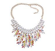 Недорогие -Жен. Свисающие Ожерелья-бархатки  -  Формальная Мода европейский нерегулярный Черный Цвет радуги Красный 46.5+8cm Ожерелье Назначение Для