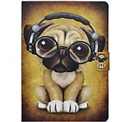 Недорогие -Кейс для Назначение SSamsung Galaxy Tab 3 10.1 Бумажник для карт Защита от удара со стендом Флип Чехол С собакой Твердый Кожа PU для Tab