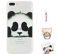 cheap -Case For Apple iPhone X / iPhone 8 Plus Pattern Back Cover Panda Soft TPU for iPhone X / iPhone 8 Plus / iPhone 8