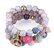 cheap -Stack Charm Bracelet / Strand Bracelet - Heart, Star, Peace Sign European, Ethnic, Fashion Bracelet Black / Red / Blue Hamsa Hand For Party / Daily