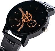 cheap -Women's Quartz Wrist Watch Chinese Chronograph Large Dial Alloy Band Creative Bangle Black