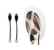 baratos -ZDM® 5m Cordões de Luzes 300 LEDs 2 x linha de conexão USB Branco Quente Branco Frio Cortável USB Fundo de tv Auto-Adesivo Carregamento