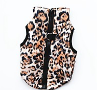 cheap -Dogs / Cats / Pets Winter Clothing Dog Clothes Solid Colored / Print / Camouflage Pink / Black / Leopard Cotton Costume For Pets Female