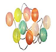 abordables -1.5m Guirlandes Lumineuses 10pcs LED Blanc Chaud Décorative Piles AA alimentées 1pc