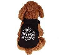 preiswerte -Hunde / Katzen / Haustiere T-shirt / Jacke / Weste Hundekleidung Einfache / Buchstabe & Nummer / Klassisch Schwarz Plüsch / Baumwolle