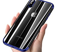 cheap -Case For Apple iPhone 8 iPhone 8 Plus Plating Ultra-thin Translucent Back Cover Solid Colored Soft TPU for iPhone X iPhone 8 Plus iPhone