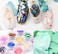 abordables -12 pcs Ornements & Décorations Inspiré de la nature / Inspiration Vintage Nail Art Design Ultra Fin Usage quotidien