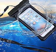 Недорогие -Кейс для Назначение Apple iPhone 6 / iPhone 7 Кошелек / Защита от влаги / Водонепроницаемый Мешочек Однотонный Мягкий ABS + PC для iPhone