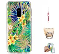 cheap -Case For Samsung Galaxy S9 Plus / S9 Pattern Back Cover Flower Soft TPU for S9 / S9 Plus