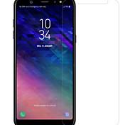 Недорогие -Защитная плёнка для экрана для Samsung Galaxy A6+ (2018) Закаленное стекло / PET 1 ед. Протектор объектива спереди и камеры HD / Уровень защиты 9H / Взрывозащищенный