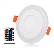 Недорогие -ZDM® 1 комплект 3 W / 6 W 45 светодиоды Новый дизайн / Пульт управления / Диммируемая Осветительная панель / LED даунлайт RGB + теплый /