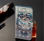 cheap -Case For Samsung Galaxy A6+ (2018) / A6 (2018) Wallet / Card Holder / with Stand Full Body Cases Owl Hard PU Leather for A6 (2018) / A6+