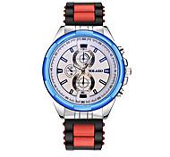 Недорогие -Муж. Наручные часы Китайский Повседневные часы силиконовый Группа Мода Черный / Синий / Красный