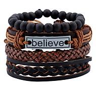 cheap -Men's Leather Bracelet / Bracelet - Leather Vintage, Fashion, Statement Bracelet Brown For Holiday / Going out