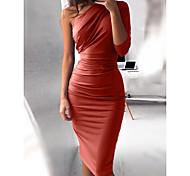 6991d131399b economico -Per donna Feste Serata Essenziale Taglia piccola Attillato  Vestito - A pieghe