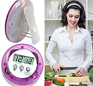 cheap -Round Shape Digital Magnetic LCD Stopwatch Timer Kitchen Racing Alarm Clock