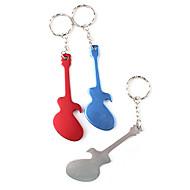 Gitarre geformte Flaschenöffner Schlüsselbund (zufällige Farbe) Barware Dekoration