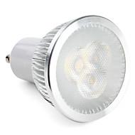 3W GU10 LED-spotlys MR16 3 leds Højeffekts-LED 300-350lm Naturlig hvid Dæmpbar Vekselstrøm 220-240