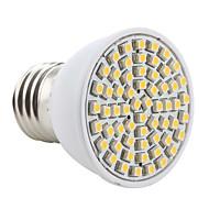 E26/E27 LED Spotlight MR16 60 SMD 3528 200lm Warm White 2800K AC 220-240V