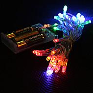 3m 4 szín light 2-üzemmód LED karakterlánc tündér lámpa Karácsony (3xAA)