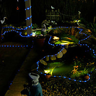 abordables Tiras de Luces LED-100 led azul tubo solar al aire libre luces de jardín, patio de la decoración