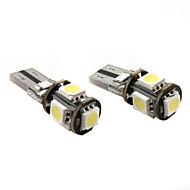 t10 5 * 5050 smd白ledカー信号光canbus高品質