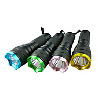 LED Flashlights / Torch Handheld Flashlights/Torch LED lm 1 Mode - for Camping/Hiking/Caving Batteries not included
